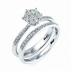 berry s 18ct white gold diamond bridal engagement and wedding ring