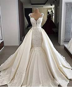 2019 Mermaid Wedding Dresses eslieb high end custom made lace with lace