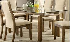 Best Dining Tables by Onway Oak Rectangular Glass Top Dining Table 1stopbedrooms
