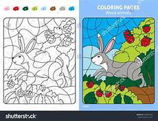 wood animals coloring pages 17194 wood animals coloring page rabbit stock vector 460903423