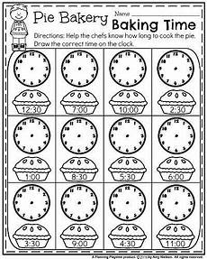 first grade worksheets for fall pie bakery baking time