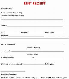 13 rent receipt templates templates printable free
