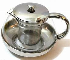 glas teekanne mit sieb stainless steel glass tea pot teapot w stainless steel