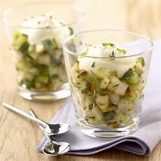 verrine concombre menthe recette verrine concombre poire et menthe aux pignons