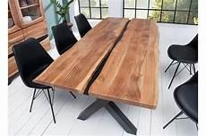 Table 224 Manger Bois Massif Et M 233 Tal Noir Rectangulaire