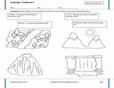 printable landform worksheets landforms for kids