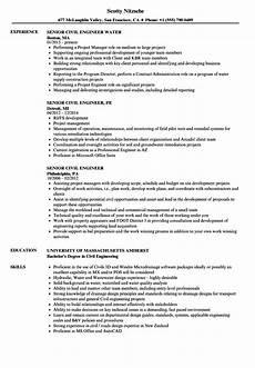 senior civil engineer resume sles velvet