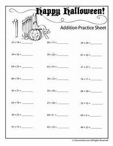 double digit halloween addition worksheet numbers up to 99 woo jr kids activities