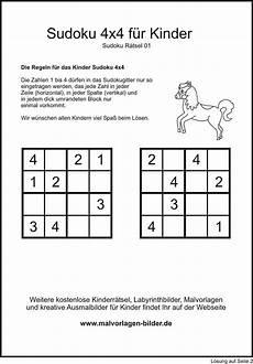 kinder sudoku 4x4 zum gratis