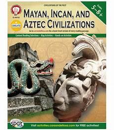 mayan incan and aztec civilizations resource book grade 5 8 carson dellosa publishing