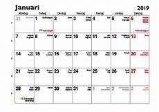 almanacka 2019 se 2019 calendar printable with