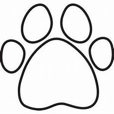 paw print silhouette clipart free clip images