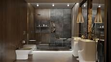 Luxus Badezimmer Design - luxuri 246 ser und moderner duschbereich mit grauer wand