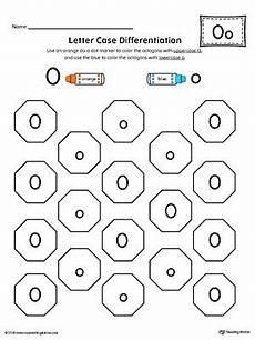 letter case recognition worksheet letter o preschool