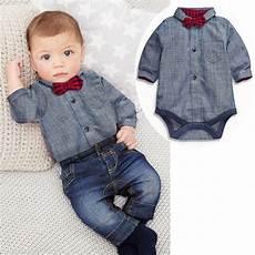 infant boy dress clothes 2017 summer baby bebes boys clothes set romper bow