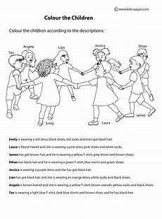 colour the children worksheet