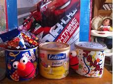 dulceros de elmo hechos con latas de leche latas latas de leche latas y latas recicladas