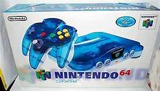 new n64 console nintendo 64 n64 console system clear blue japan import