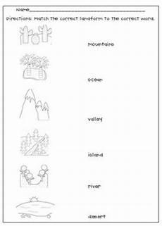 landforms matching worksheet by l m n o pink tpt