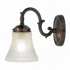 victorian singlw wall light fitting with cut glass shade