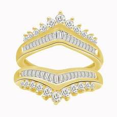cz wrap ring guard enhancer wedding 14k yellow gold over