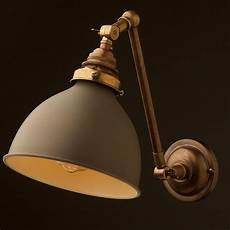 brass adjustable arm wall sconce shade