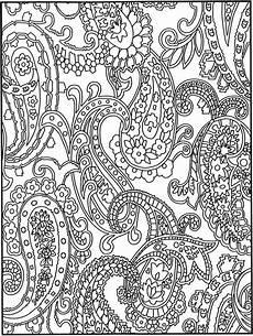 crazy paisley1 destress coloring ausmalbilder