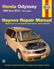 car engine manuals 2007 honda odyssey parental controls haynes repair manual for honda odyssey 1999 2010 hay42035