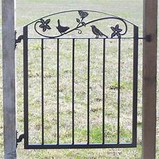 metal iron garden gate with birds and flowers etsy