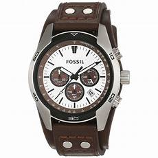 fossil herren armbanduhr sport chronograph leder braun