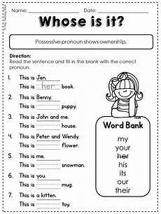 free common core l 1 1 d possessive pronoun first and