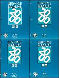 automotive repair manual 2000 chevrolet express 2500 user handbook 2000 chevy express gmc savana van shop manual set 1500 2500 3500 repair service ebay