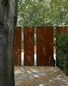 Cortenstahl Sichtschutz F 252 R Garten 30 Ideen Und Beispiele