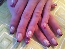 gel nails thermo gel schwarz pink nageldesign bilder