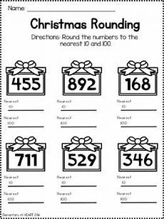 christmas math worksheets third and fourth grade by