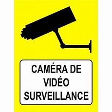 autocollant et panneau 233 ra de surveillance fond jaune