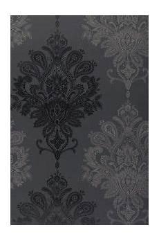 Papier Peint Baroque Noir Et Gris Black Grey Baroque