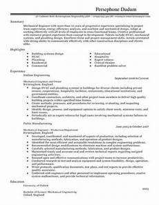 mechanical engineer cv template cv sles exles