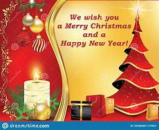 we wish you merry christmas and happy new year classic greeting card stock illustration