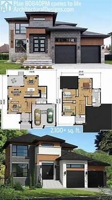 modern home design floor plans plan 80840pm multi level modern house plan vacation