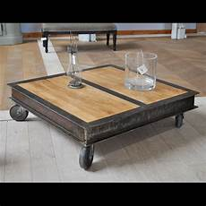 fabriquer table basse style industriel table basse style industriel fabrication artisanale