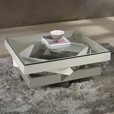 Table Basse Carr 233 E En Bois Laqu 233 Et Verre Longueur 90cm