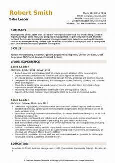 sales leader resume sles qwikresume
