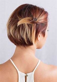 adorable short hairstyles with bobby pins short