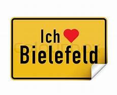 Aufkleber Ortsschild Ich Liebe Bielefeld Vektorgrafik