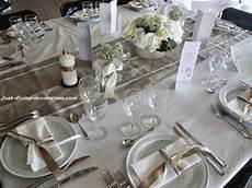 deco table mariage et blanc mariage ivoire blanc marron deco table table