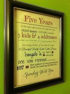 8 year anniversary gift ideas ty4vozvln love five year
