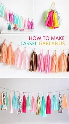 tassel garland diy step by step tutorial with photos
