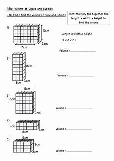 finding the volume of a cuboid rag teaching resources