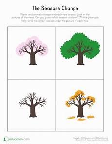 changing seasons worksheet education